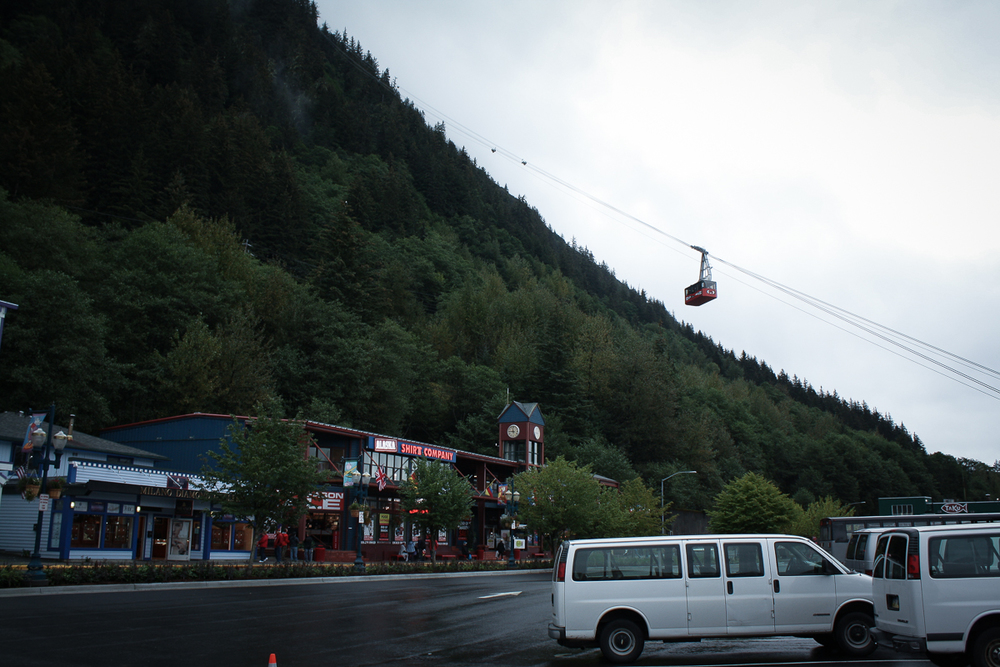 One of the big (and somewhat pricey) tourist traps in Juneau is a gondola ride to the top of a mountain. If there wasn't so much cloud cover, I actually would have considered it!