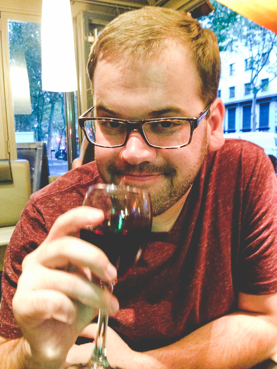 Pretending to do the wine thing because I'm in Paris.