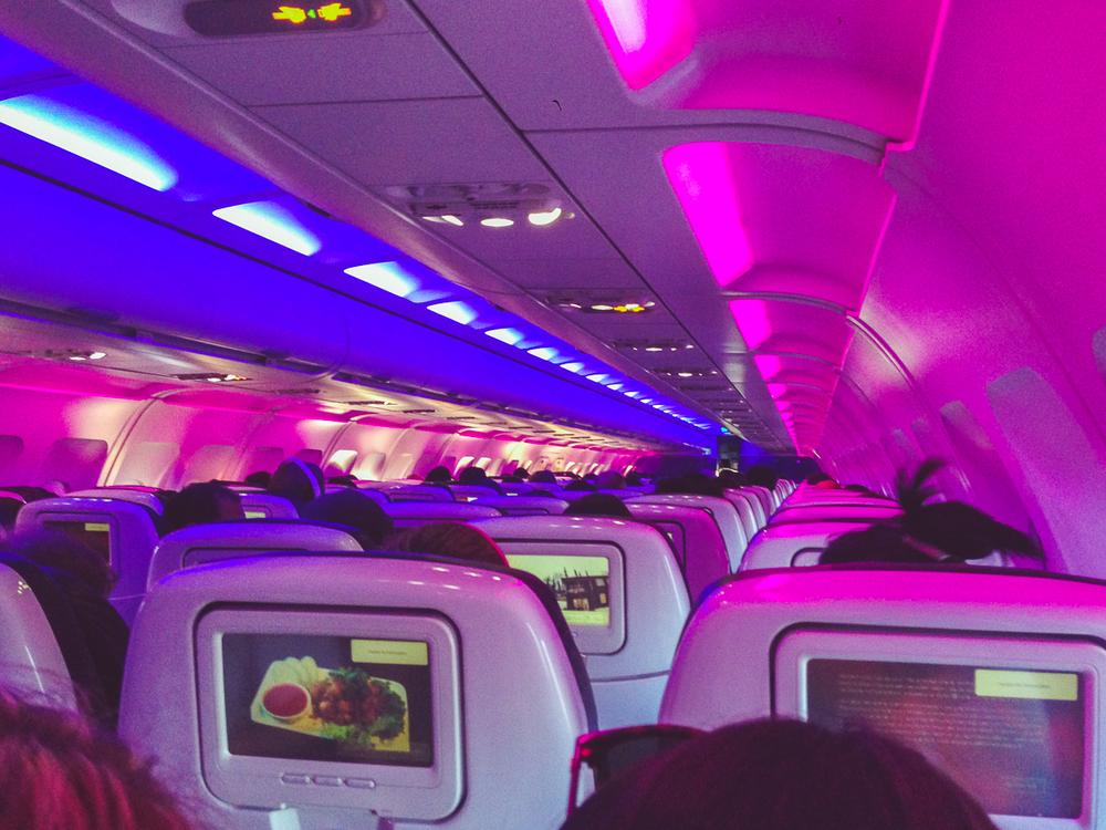 We got to fly Virgin America back for like $60!