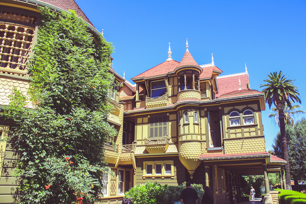 "Winchester Mystery House. Can you spot the ""Door to Nowhere""?"