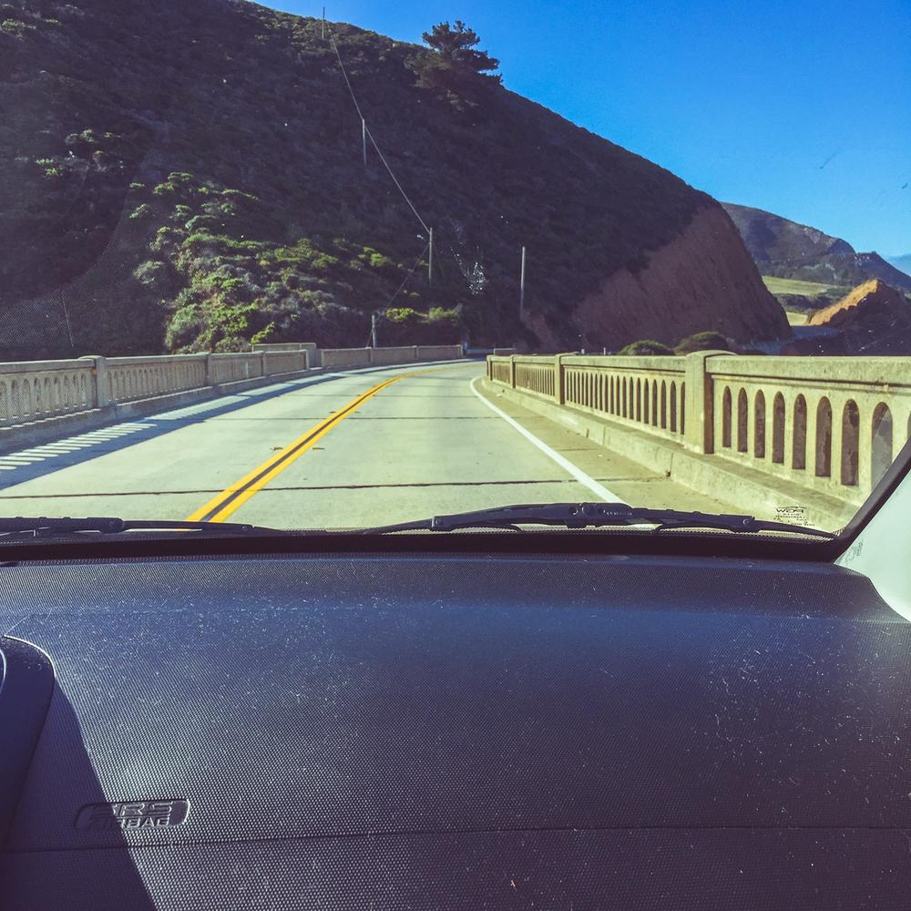Driving across the Bixby Bridge. Ooooh. Aaaah.