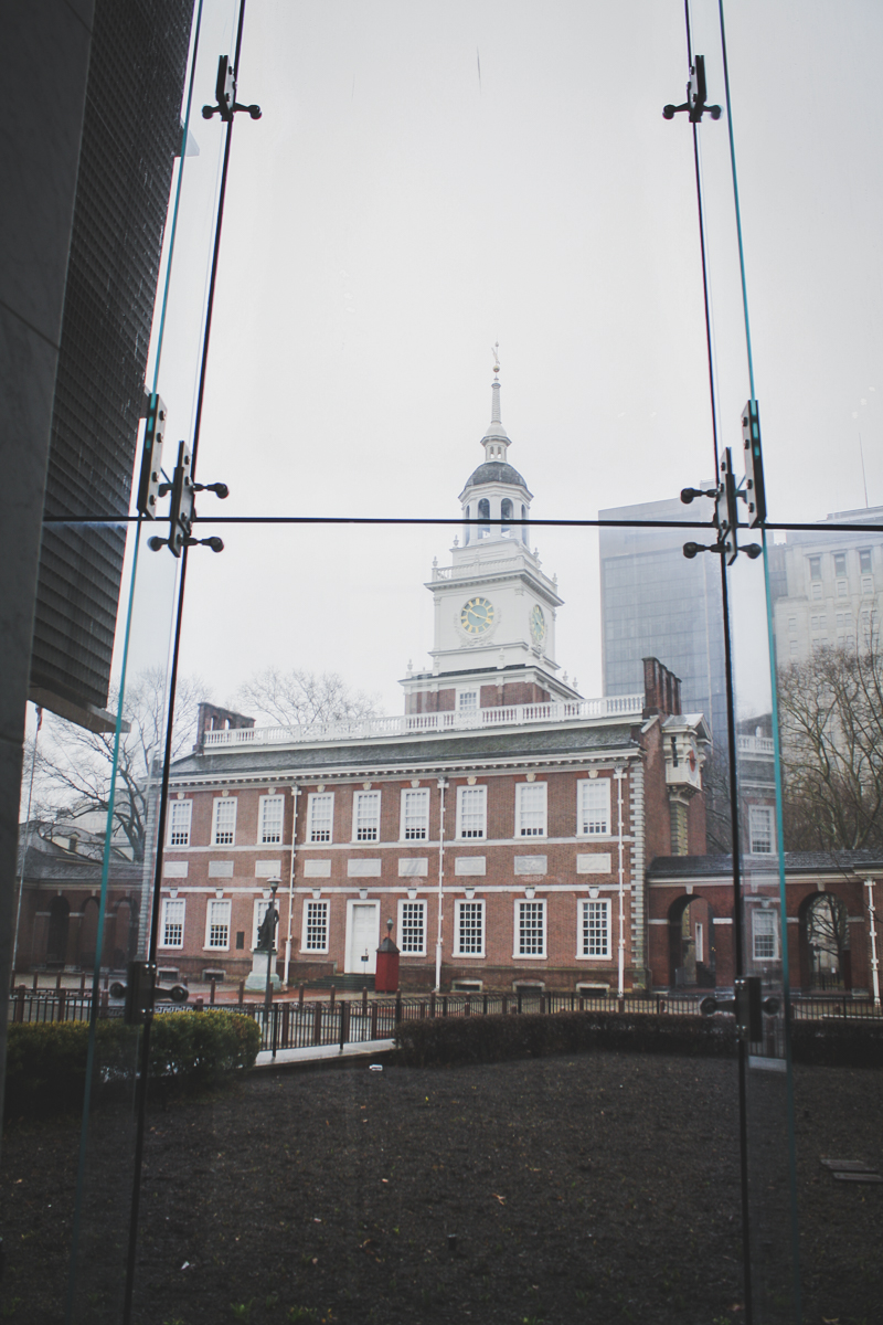 Independence Hall beautifully in the background.