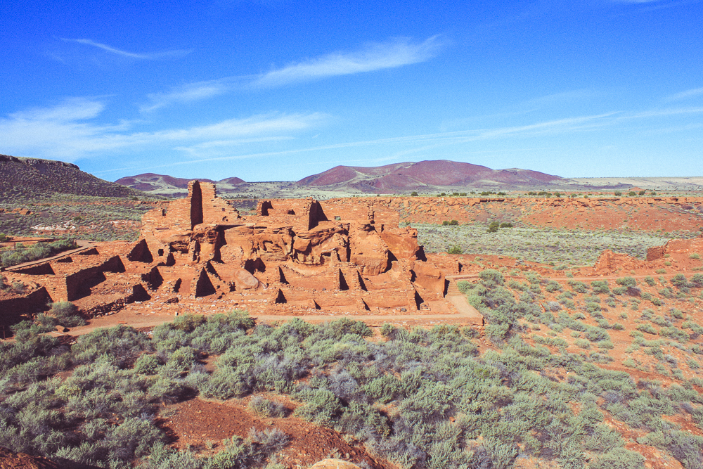 The Wupatki Pueblo is one of many that dot this countryside.