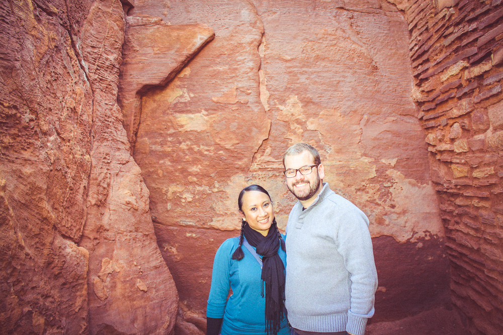 """Another shot of us """"inside"""" of the pueblo."""