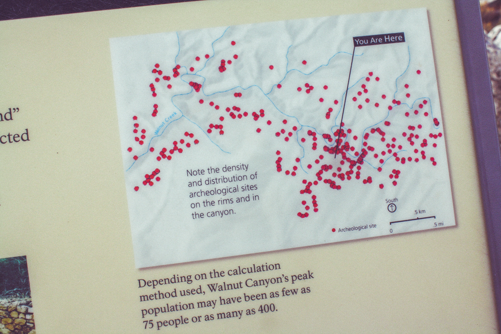 This map showed just exactly how many homes can be found along the canyon walls!