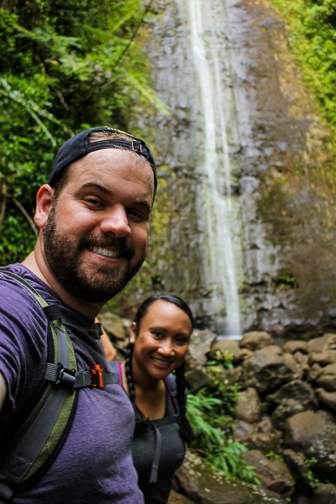 Our first selfie at Manoa Falls!