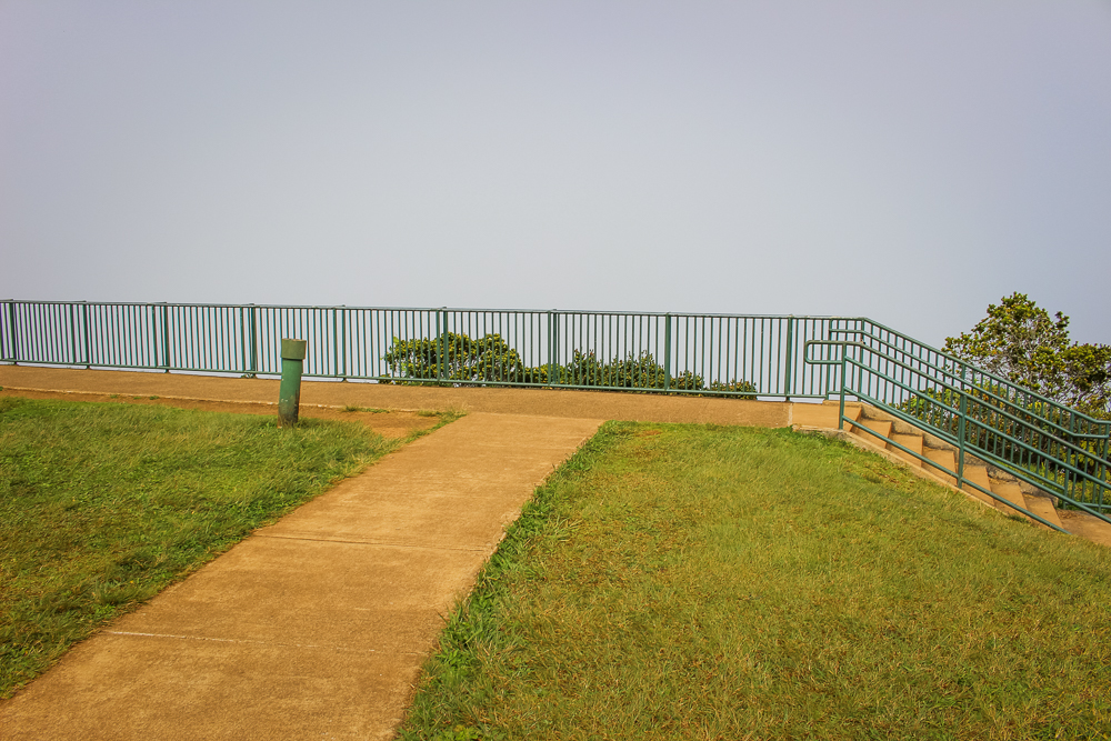 Now to a very foggy Kalalau Lookout.