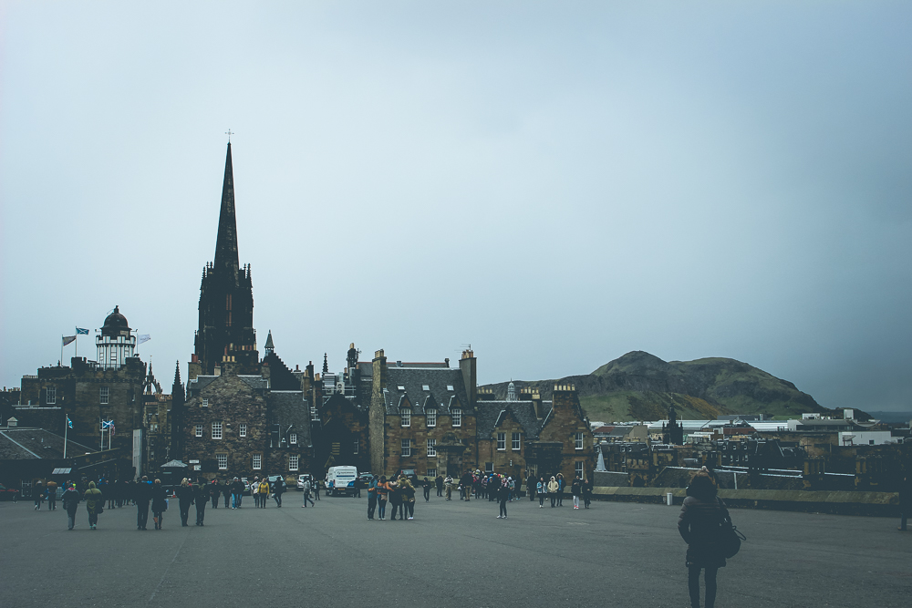 Heading back down the hill towards the Royal Mile.