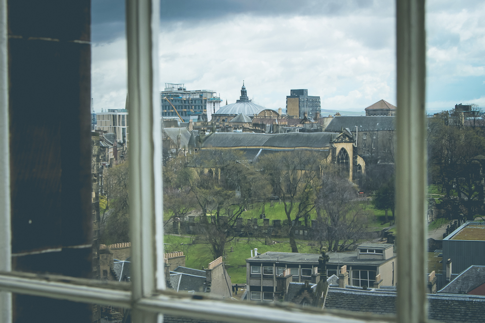 Looking out the window from the Whisky Experience, you could see Greyfriars Kirkyard.