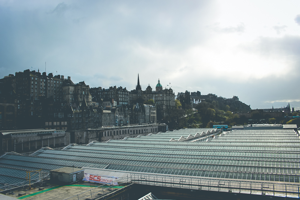 Looking across Waverly Station to Old Town as we walked to Calton Hill.