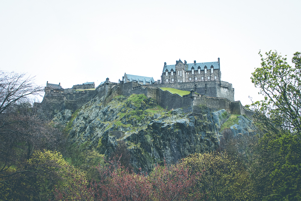 Edinburgh Castle is so majestic atop its cliff.