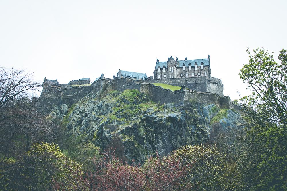 Edinburgh Castle is so majestic atop its cliff.