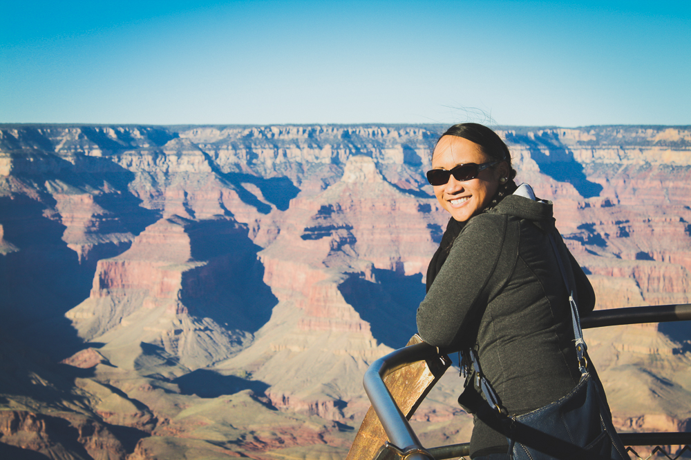 """Theodore Roosevelt said """"man cannot improve"""" upon the Grand Canyon. But woman can. #awwwyeah #thumbsup"""