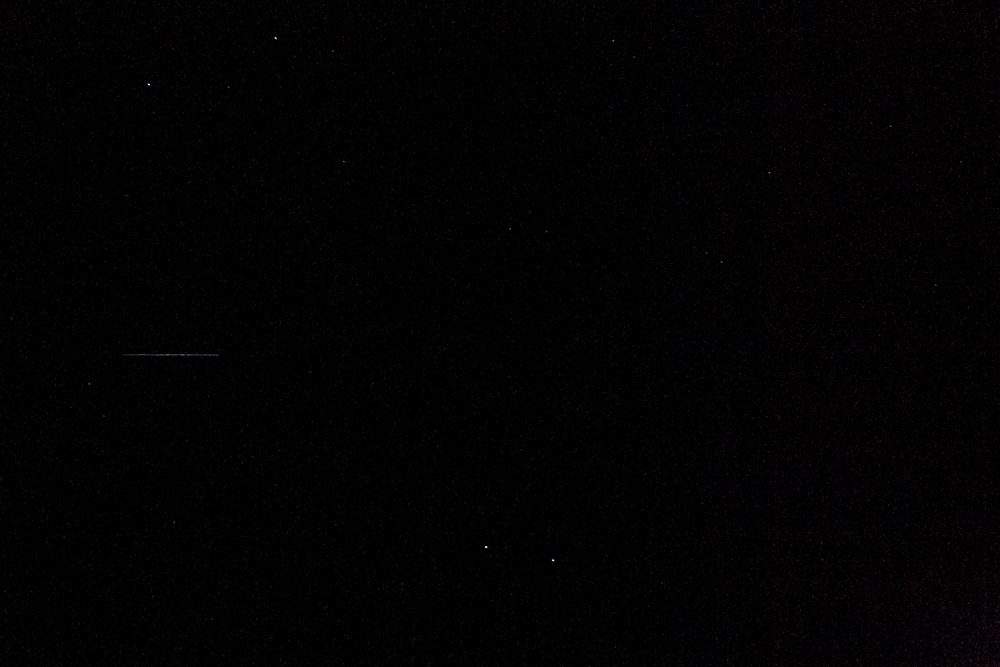 My attempt at bad night-time photography. Although if you look closely, you can see a satellite streaking across the photo.