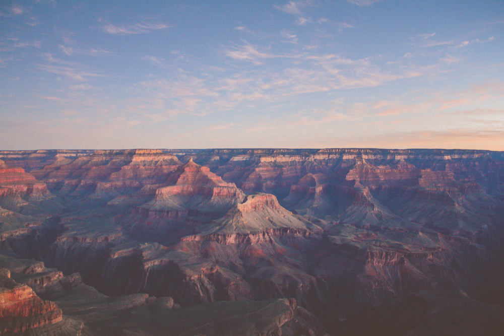 Of the two, I found the sunrise to be more majestic than the sunset. It could be that you have to work harder for it. Or simply that it's a softer light and a beautiful extension of the canyon.