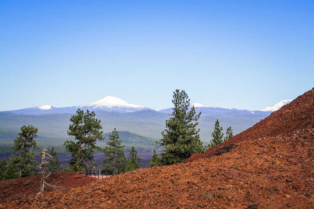 The Cascade Range to the west.