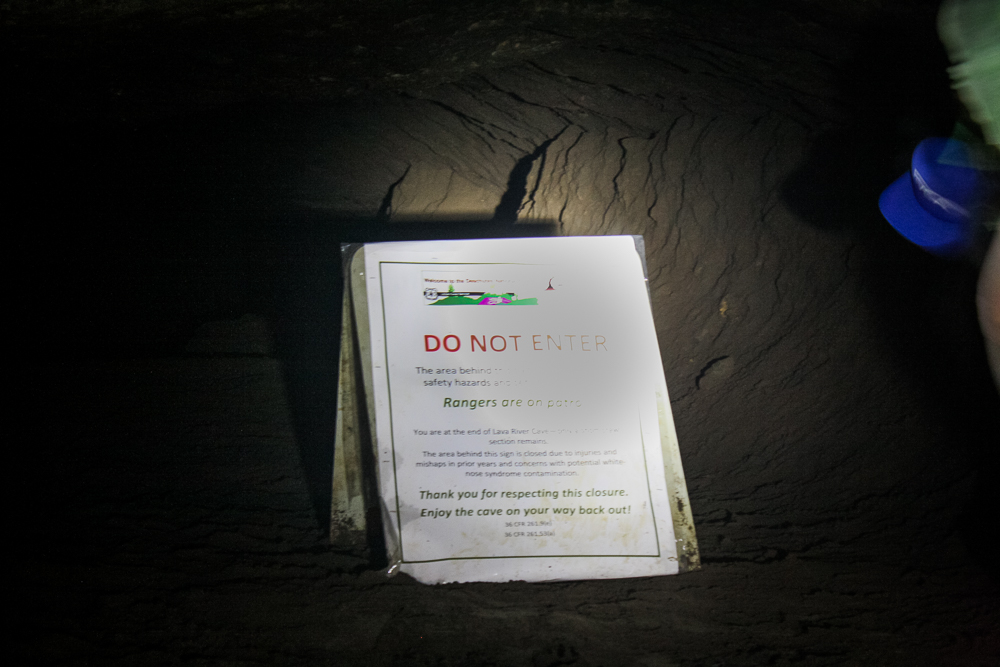 The shot was unsalvageable but I included it anyway! Here's the sign saying to not go any further!