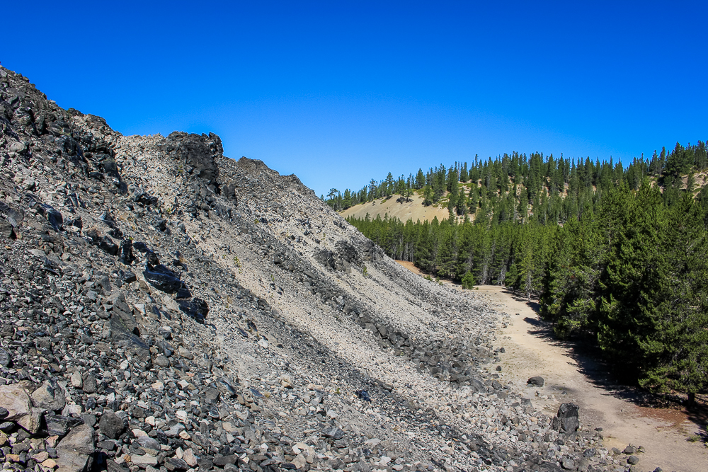 Here's the edge of the Big Obsidian Flow. You can really see how large it is compared to the surrounding area.