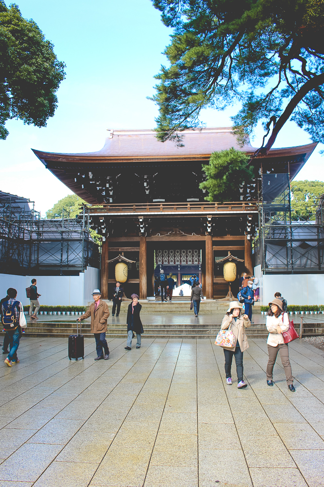 Ok, maybe I oversold the scaffolding. I remember there being more.  Either way, this is the entrance to the main structure of the shrine. Notices asked that photography not be taken inside, as it is a place of prayer, and we happily obliged.