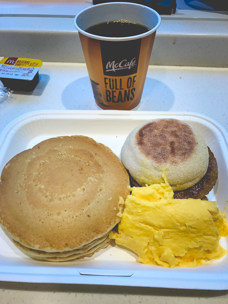 I don't care how many Michelin-starred restaraunts Tokyo has, I'm a sucker for a McDonald's Deluxe Breakfast.