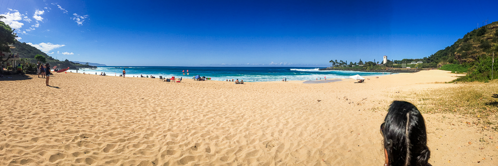Now to Waimea Bay Beach.