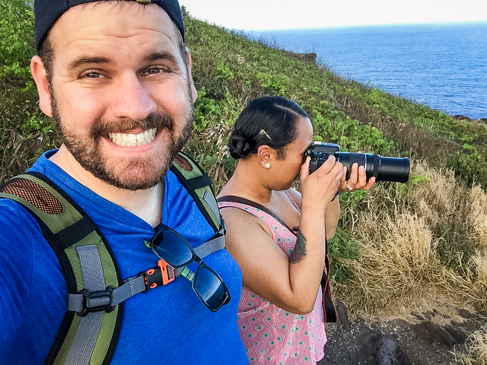 After much difficulty capturing photos of whales, Cindy tries her hand.