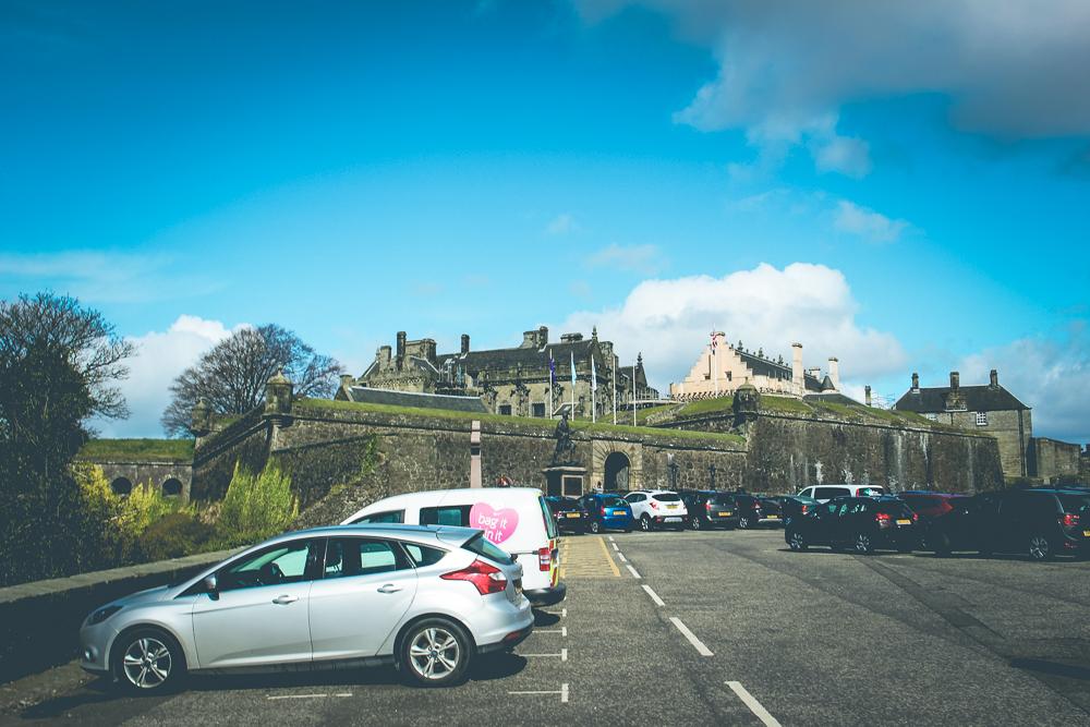 Arriving at the Stirling Castle!