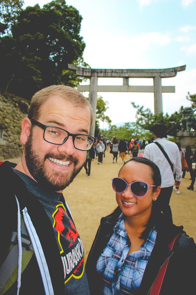 The land-based entry to the Itsukushima Shrine.