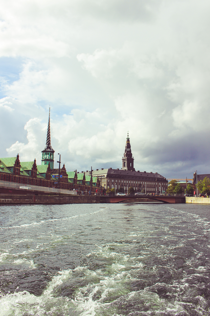 Leaving the area of the Christiansborg Palace.