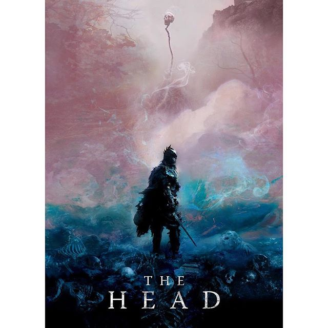 Who knew purple and turquoise could be so scary? Official poster for @theheadmovie from talented designer @christophershystudioronin