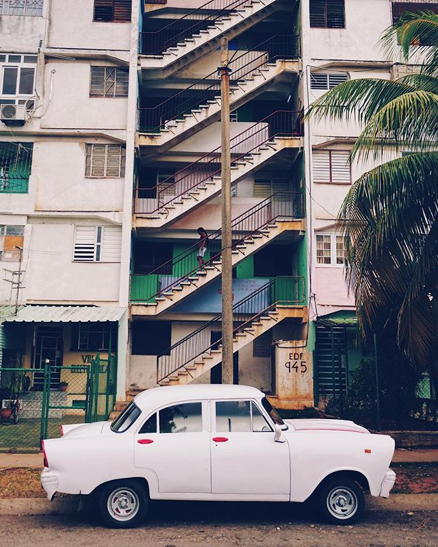 Obligatory old car/cool building shot while in Cuba.