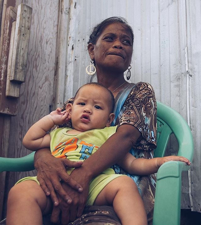 """Some of the many people I met at the """"dumptown ministry"""" where people literally live amongst the trash and rubble of Ebeye, Marshall Islands."""