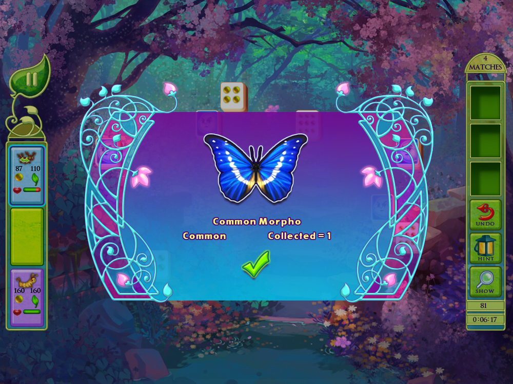 Each butterfly is a real-world species - this makes playtime more valuable since players are learning real facts!