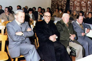 Silvester Erlacher, Ujöp Pizzinini, Franzl Pizzininie Stachio Costa.