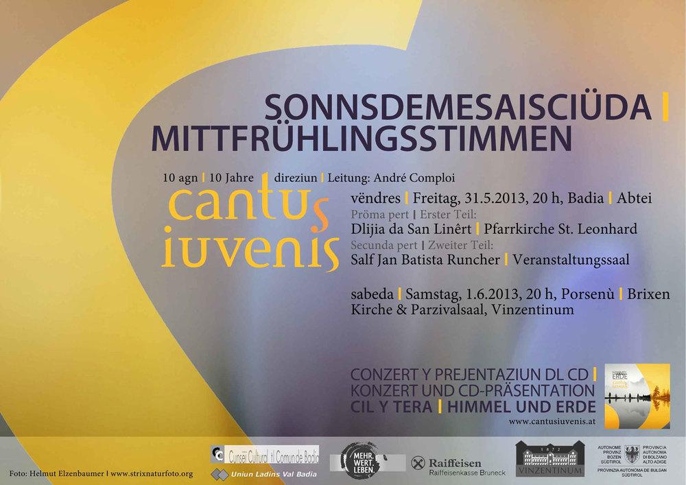 """Conzert y presentaziun dla CD nöia dl cor """"cantus iuvenis"""""""
