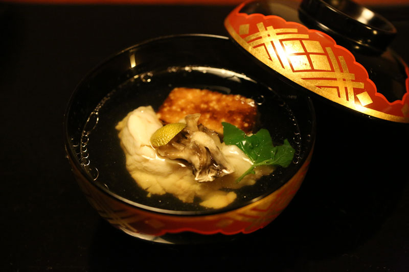 A dish of delicious kaiseki cuisine