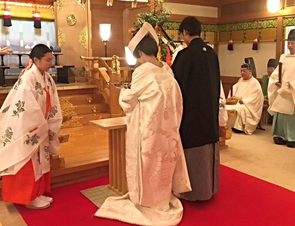 A Shinto style wedding