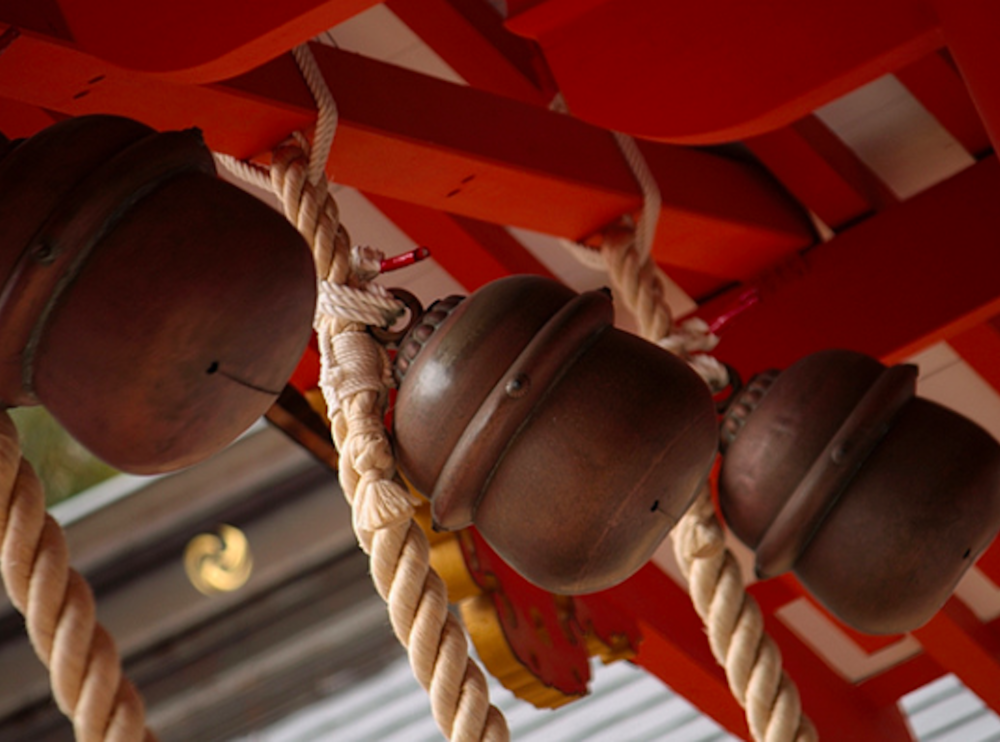 Hanging bells at the inner sanctum of a temple. ©TOKI