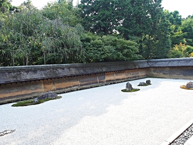 Ryoanji, considered one of Japan's most famous rock gardens.