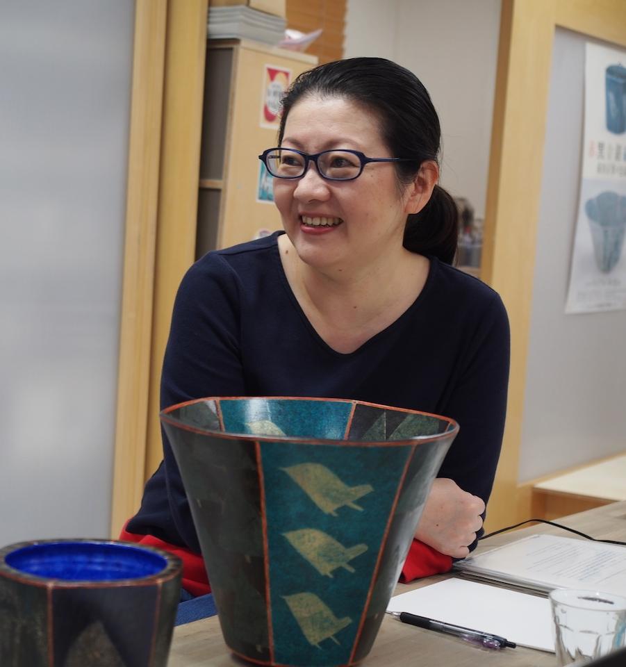 Fumio Sasaki, Maeda's partner and fellow artist.©TOKI