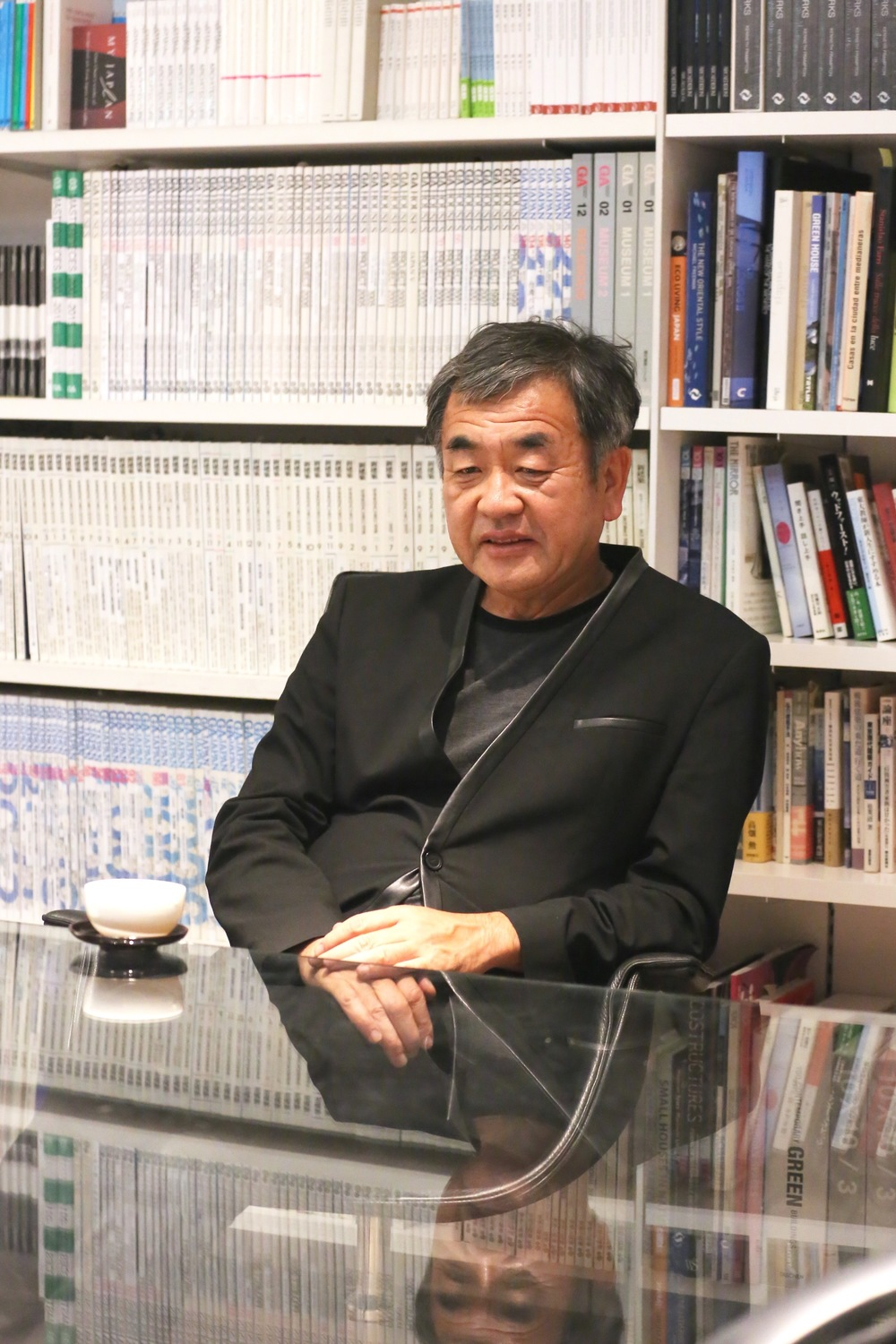 Kengo Kuma took the time to sit down with us. ©TOKI