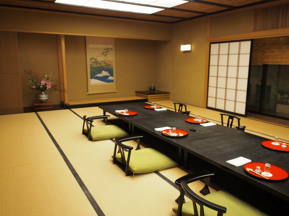 A traditional Japanese room called a  washitsu , with  tatami  flooring and a  tokonoma  alcove. ©TOKI