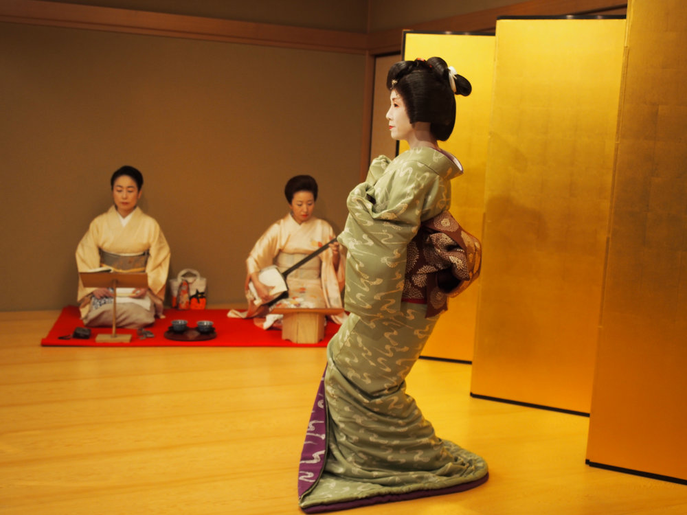 Japanese traditional dance,  Nihon buyo , is typically accompanied by a shamisen player and a vocalist. ©TOKI
