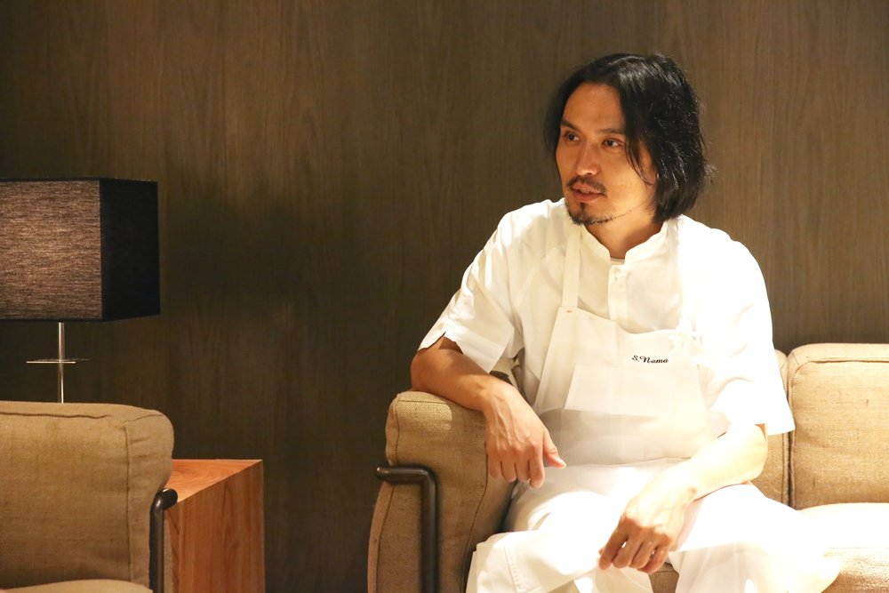 Chef Shinobu Namae sat down with us for an interview at his Michelin two-star rated restaurant, L'effervescence. ©TOKI