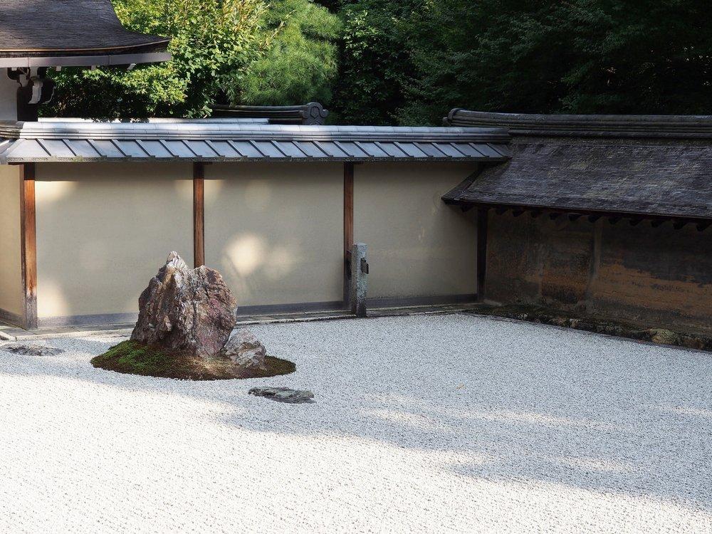 """"""" Karesansui """" style Japanese garden at Ryoan-ji temple. ©TOKI"""