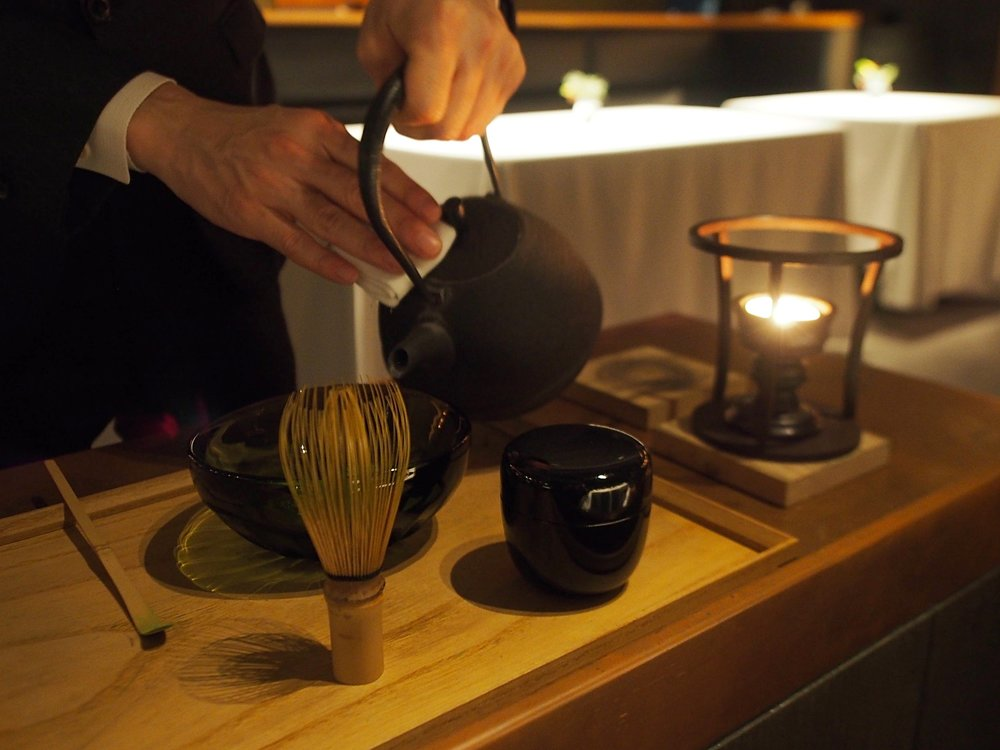 All of the staff at L'Effervescence have studied tea ceremony, and guests are treated to a table-side experience. ©TOKI