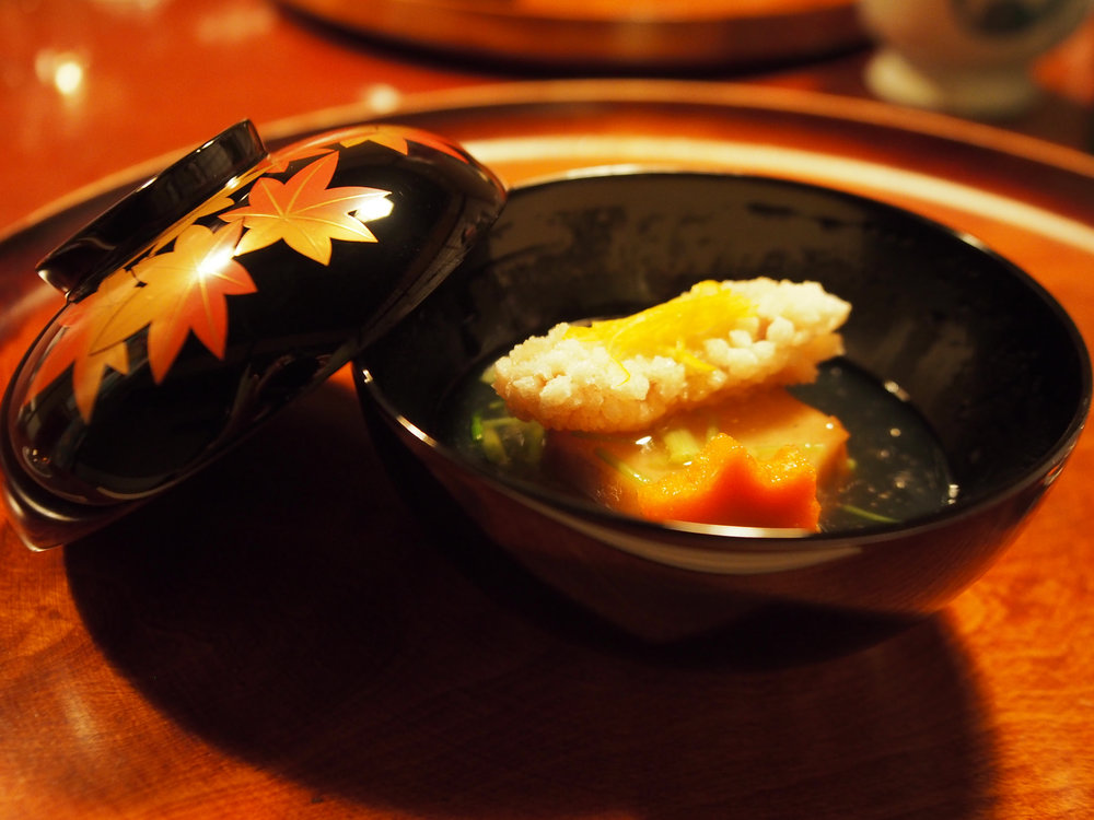 A nimono (stewed) dish prepared with pumpkin and carrots.  ©TOKI