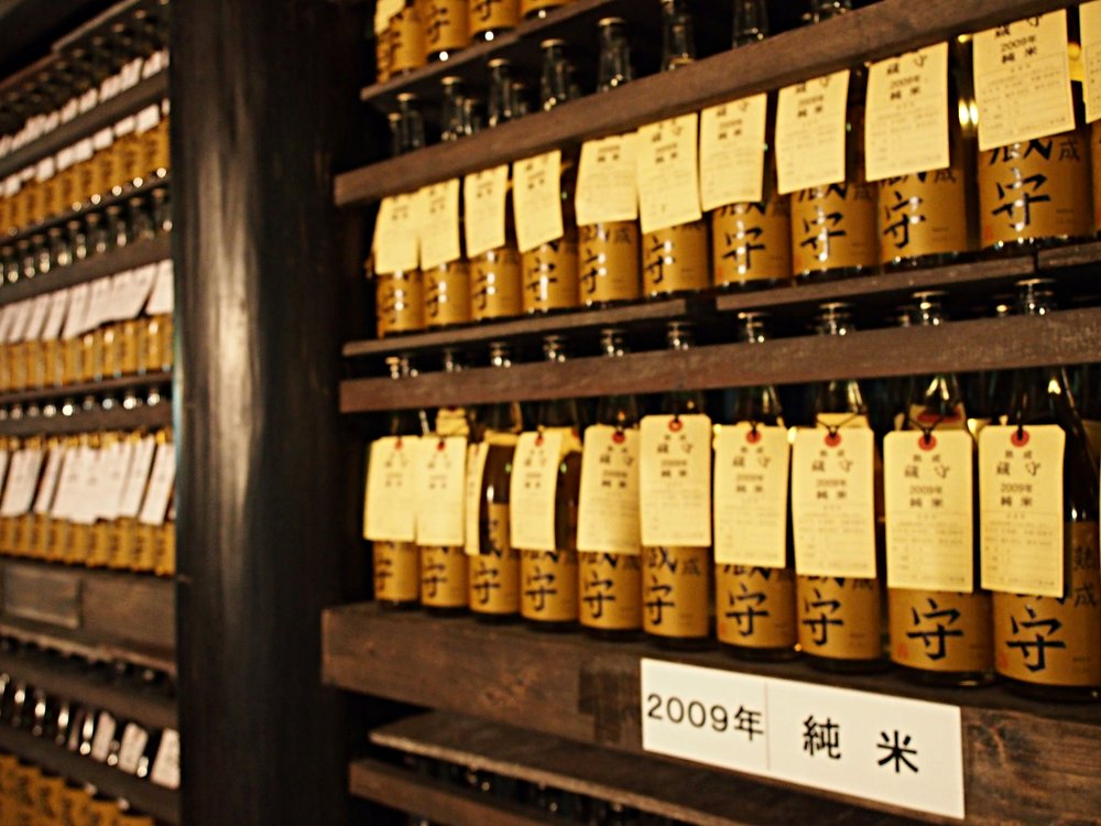 Sake is aged for six months to a year before being shipped.  ©TOKI