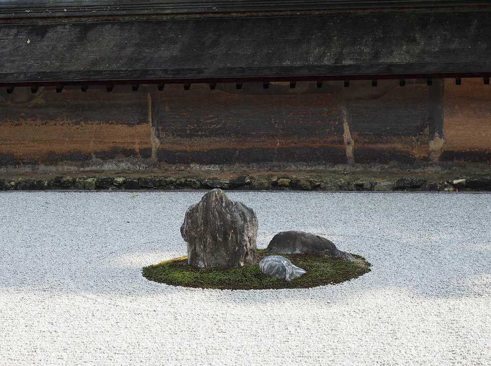 Part of one of Japan's most famous dry landscape gardens, located in Ryoanji. ©TOKI