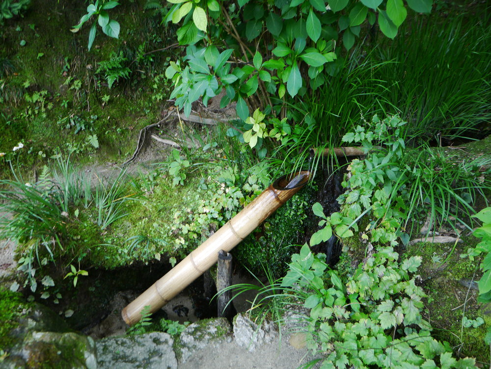 Shishiodoshi adds a calming sound to the garden. ©TOKI